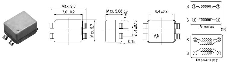 схема синфазного дросселя