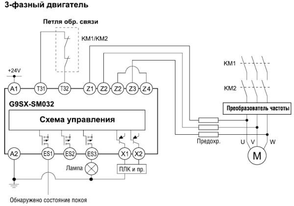 Рис. 5. Пример применения модуля G9SX-SM