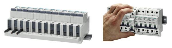 Рис. 5. Замена автоматического выключателя на DIN-рейке