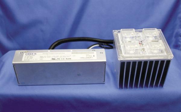 Рис. 9. Пример конструкции модуля промышленного светильника на четырех светодиодах XHP70