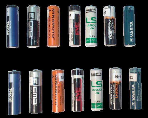 Рис. 1. Тестируемые батарейки