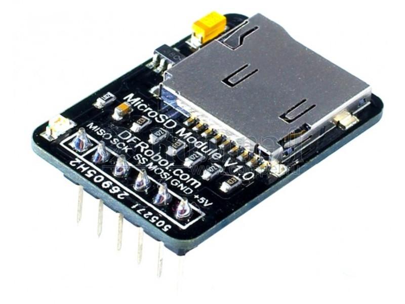 Branchement dun adaptateur microSD