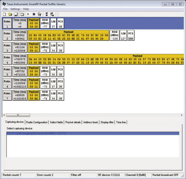 датчик для перехвата данных
