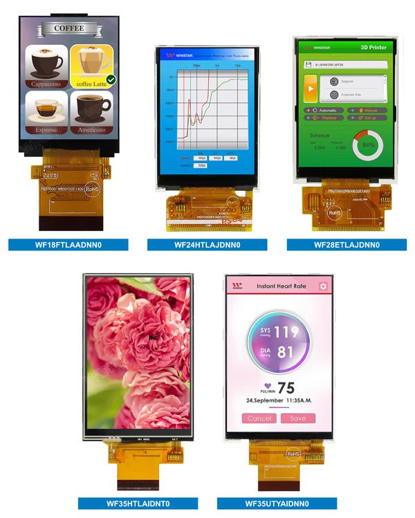 Рис. 4. Новые стандартные дисплеи Winstar с малой диагональю