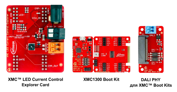 Рис. 7. Состав набора XMC™ LED Current Control Explorer Kit